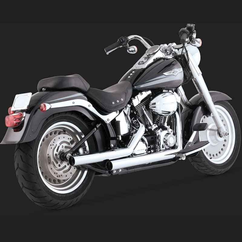 VANCE HINES STRAIGHTSHOTS CHROME EXHAUST FOR HARLEY SOFTAIL 00-11
