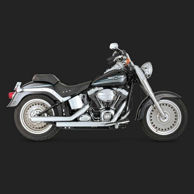 VANCE HINES STRAIGHTSHOTS CHROME EXHAUST FOR HARLEY SOFTAIL 00-11 - SIDE