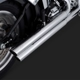 SCARICHI VANCE HINES Q-SERIES DOUBLE BARREL CHROME PER HARLEY SOFTAIL 00-13 - DETAIL