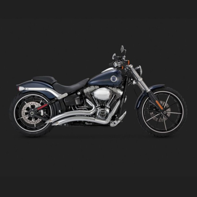 SCARICHI VANCE HINES BIG RADIUS CHROME PER HARLEY SOFTAIL 13-17 - SIDE