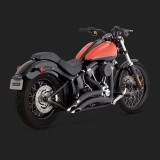 VANCE HINES BIG RADIUS BLACK EXHAUST FOR HARLEY SOFTAIL 86-17