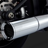 VANCE HINES PRO PIPE CHROME 2-INTO-1 EXHAUST SYSTEM HARLEY SOFTAIL 12-17 - DETAIL 2