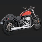 VANCE HINES PRO PIPE CHROME 2-INTO-1 EXHAUST SYSTEM HARLEY SOFTAIL 12-17