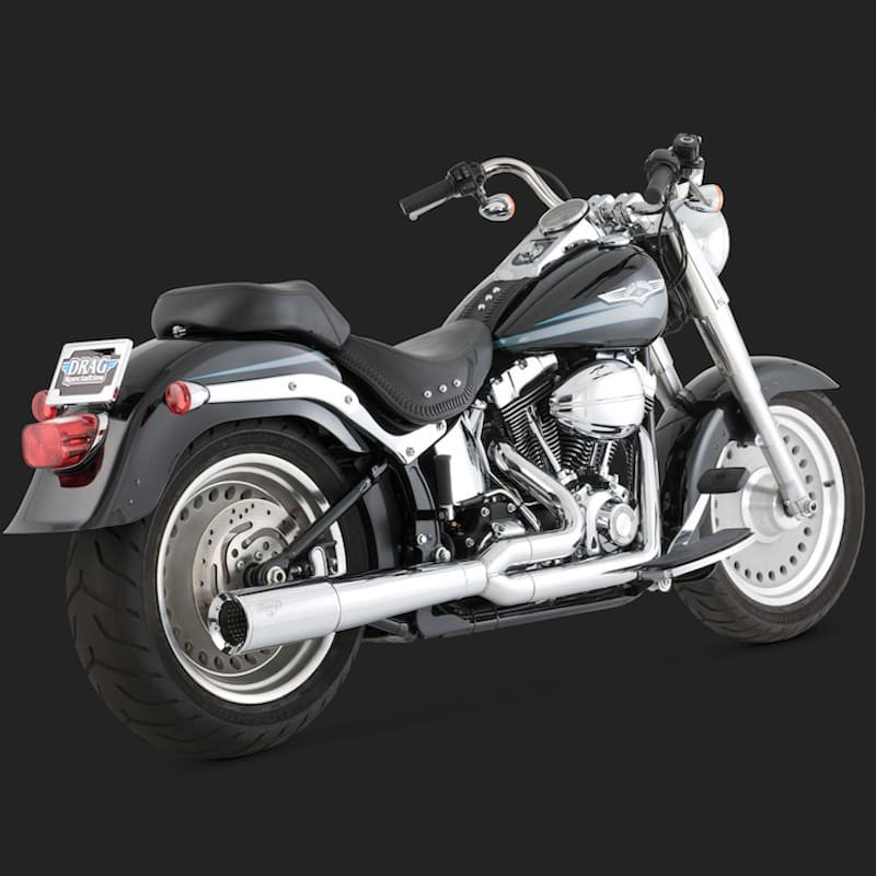 VANCE HINES PRO PIPE CHROME 2-INTO-1 EXHAUST SYSTEM HARLEY SOFTAIL 86-11