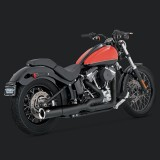 SCARICHI VANCE HINES PRO PIPE BLACK 2-INTO-1 PER HARLEY SOFTAIL 12-17