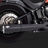 VANCE HINES PRO PIPE BLACK 2-INTO-1 EXHAUST HARLEY SOFTAIL 12-17 - DETAIL 2