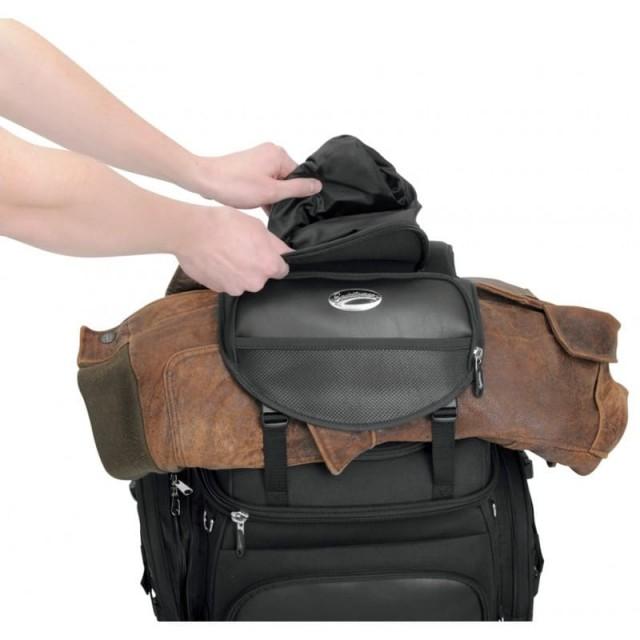 SADDLEMEN BR3400 BACK SEAT SISSY BAR BAG - JACKET