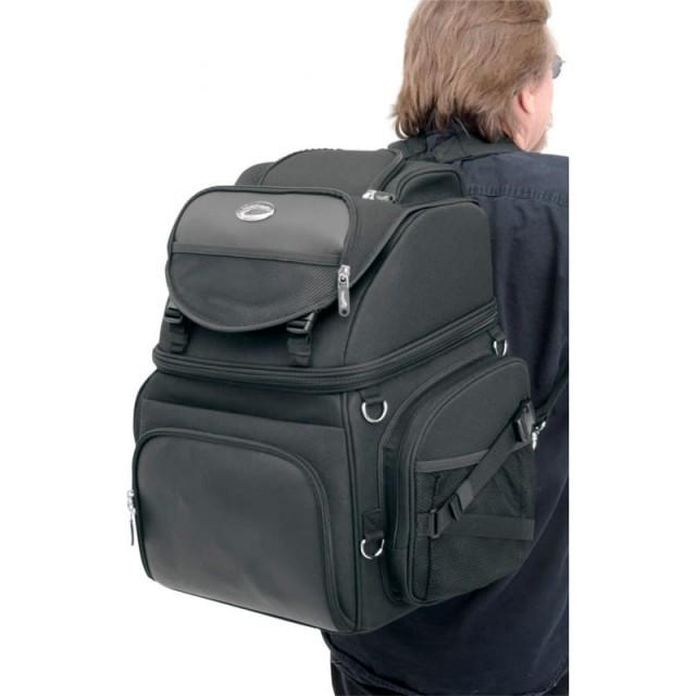 SADDLEMEN BR3400 BACK SEAT SISSY BAR BAG - SHOULDER STRAPS