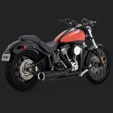 VANCE HINES HI-OUTPUT SHORT BLACK 2-INTO-1 EXHAUST HARLEY SOFTAIL 86-17