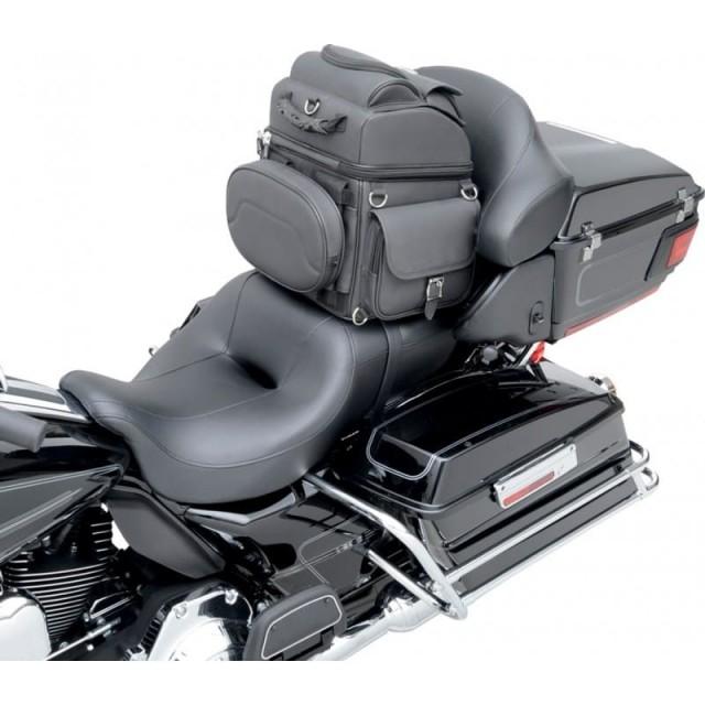 SADDLEMEN BR1800EX BACK SEAT SISSY BAR BAG - SADDLE MOUNT