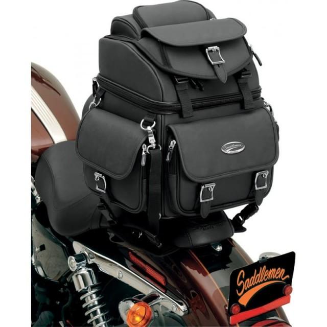 SADDLEMEN BR1800EX BACK SEAT SISSY BAR BAG - SISSY BAR MOUNT