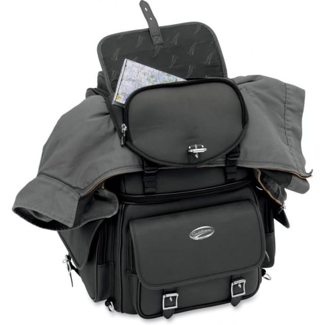 SADDLEMEN BR340EX BACK SEAT SISSY BAR BAG - POCKET