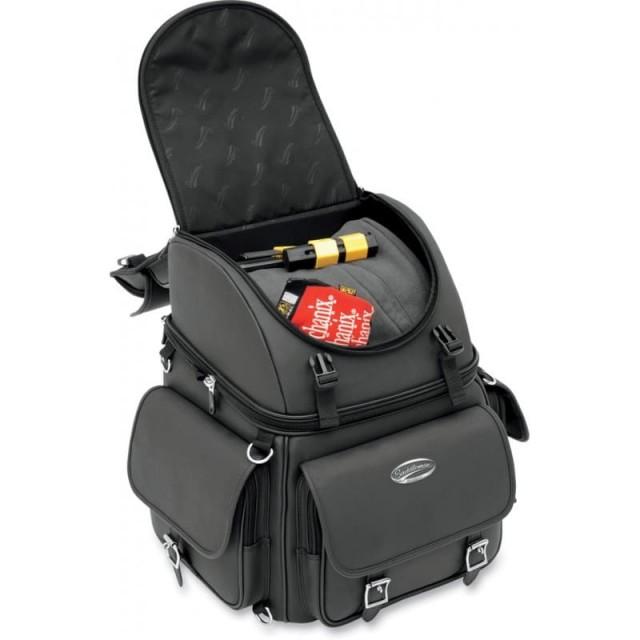 SADDLEMEN BR340EX BACK SEAT SISSY BAR BAG - UPPER COMPARTMENT