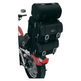 BORSA SADDLEMEN S3200DE DELUXE EXPANDABLE SISSY BAR BAG - ESEMPIO FISSAGGIO MOTO