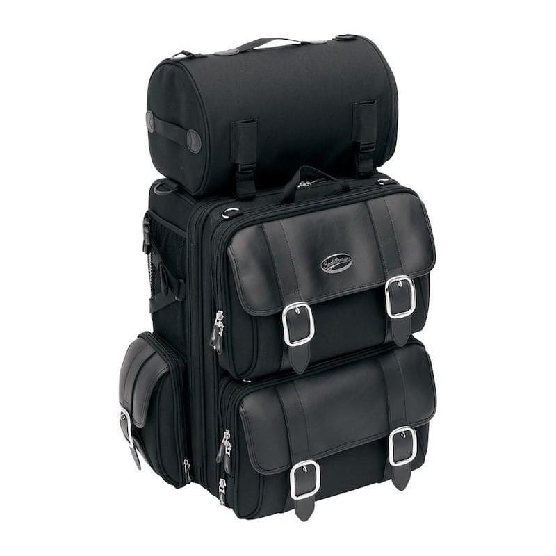 SADDLEMEN S3200DE DELUXE EXPANDABLE SISSY BAR BAG