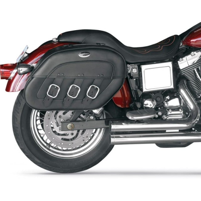 SADDLEMEN S4 RIGID‐MOUNT QUICK‐DETACH SLANT SADDLEBAGS 99-17 DYNA