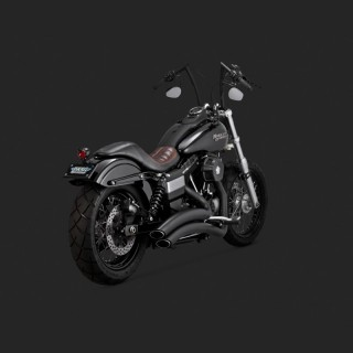 VANCE HINES SUPER RADIUS BLACK EXHAUST FOR DYNA WIDE/GLIDE 06-17