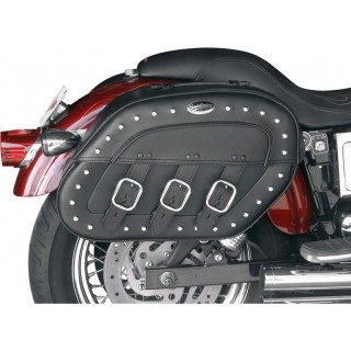 SADDLEMEN S4 DESPERADO RIGID‐MOUNT QUICK‐DETACH SLANT SADDLEBAGS 96-17 DYNA