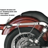 SADDLEMEN S4 DESPERADO RIGID‐MOUNT QUICK‐DETACH SLANT SADDLEBAGS 96-17 DYNA - CHROMED METAL SUPPORTS