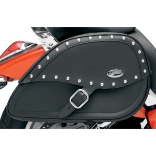 SADDLEMEN DESPERADO RIGID-MOUNT SPECIFIC-FIT TEARDROP SADDLEBAGS DYNA 96-17