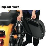 SADDLEMEN EXPRESS CRUIS'N SIDEBAGS WITH SHOCK CUTAWAY - ZIP-OFF YOKE