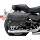 SADDLEMEN HIGHWAYMAN RIVETED SLANT LARGE SADDLEBAGS
