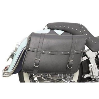 SADDLEMEN HIGHWAYMAN RIVETED SLANT JUMBO SADDLEBAGS