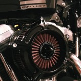 RSD TURBINE AIR CLEANER BLACK 2037 - DETAIL