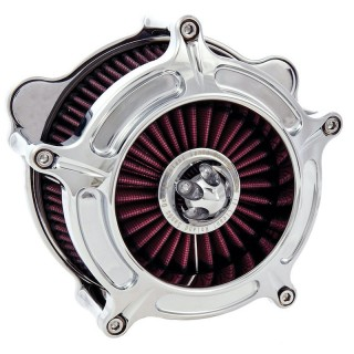 RSD TURBINE AIR CLEANER CHROME 2037