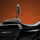 LE PERA OUTCAST SMOOTH FULL LENGTH SEAT HARLEY TOURING 08-21 OPTIONAL BACKREST - SIDE VIEW
