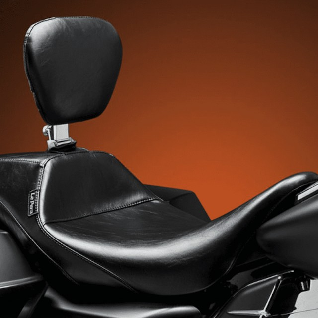 LE PERA OUTCAST SMOOTH FULL LENGTH SEAT HARLEY TOURING 08-21 - OPTIONAL BACKREST