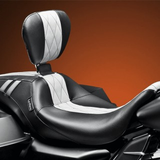 LE PERA OUTCAST GT SEAT WITH BACKREST HARLEY TOURING 08-19