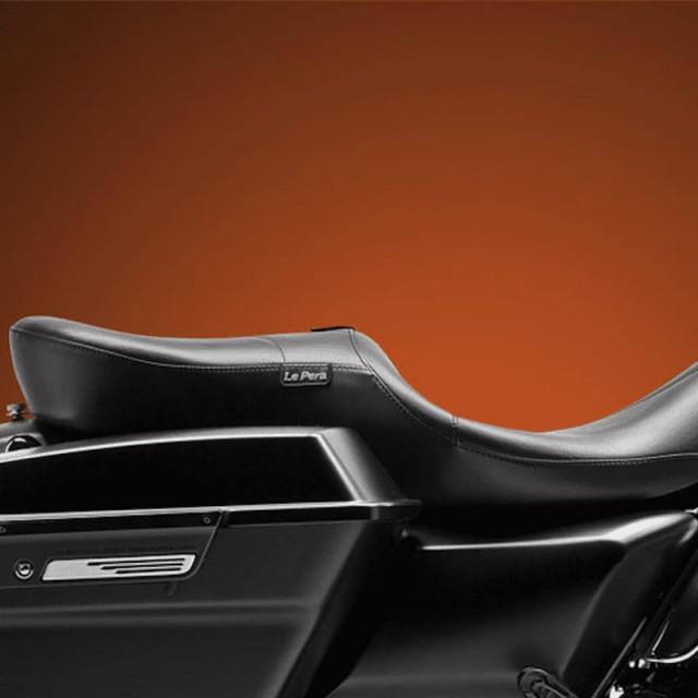 LE PERA RT66 SEAT WITH BACKREST HARLEY TOURING 08-21 - REMOVED BACKREST SIDE
