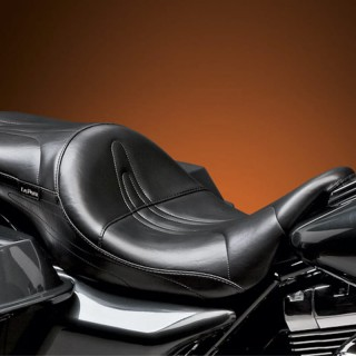 LE PERA SORRENTO STITCH 2-UP SEAT HARLEY TOURING 08-19 WITH PYO/BAGGER NATION GAS TANK