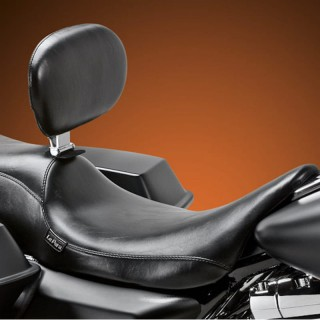 LE PERA SILHOUETTE SMOOTH 2 UP SEAT WITH BACKREST HARLEY TOURING 08-19