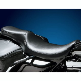 SELLA LE PERA SILHOUETTE SMOOTH 2 UP SEAT HARLEY TOURING FLHR 02-07