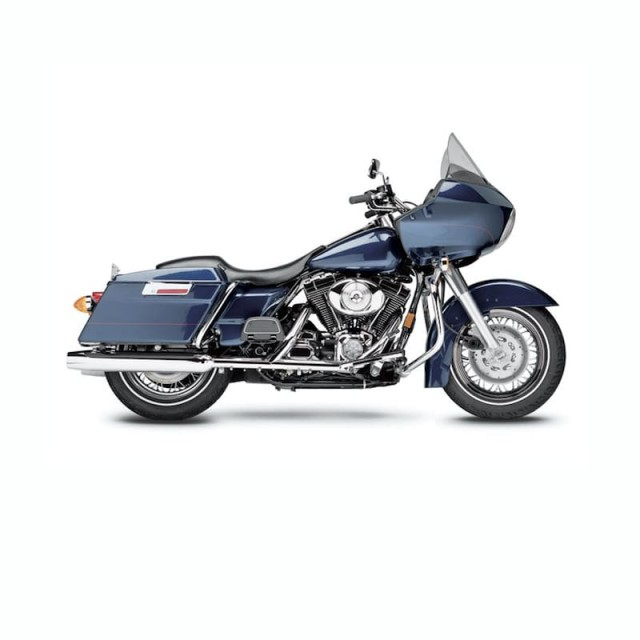 LE PERA SILHOUETTE SMOOTH SEAT HARLEY TOURING 02-07 WITH PYO/BAGGER NATION GAS TANK - ROAD GLIDE