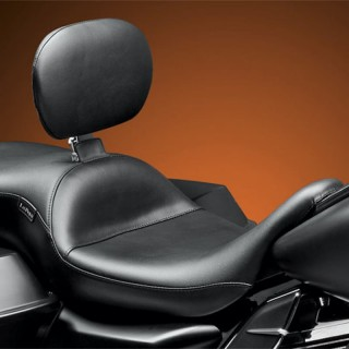 LE PERA MAVERICK SMOOTH LONG LEGS SEAT WITH BACKRST HARLEY TOURING 08-19