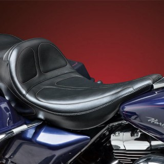 LE PERA MAVERICK STITCH LONG LEGS SEAT HARLEY TOURING FLHR 99-01
