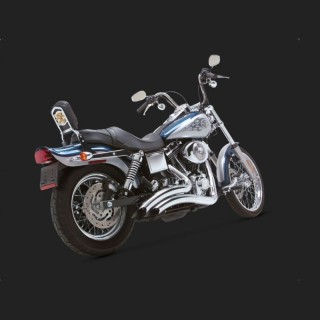 VANCE HINES BIG RADIUS CHROME EXHAUST FOR DYNA 91-05