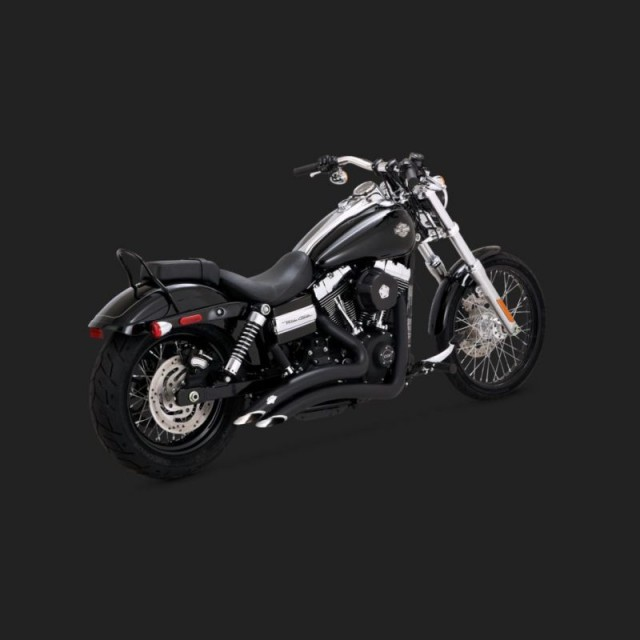 VANCE HINES BIG RADIUS MATT BLACK EXHAUST FOR DYNA 06-17