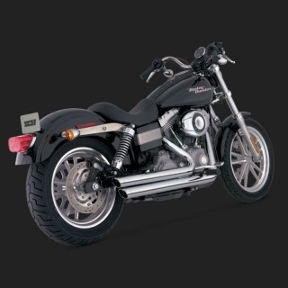 VANCE HINES BIG SHOT STAGGERED CHROME EXHAUST FOR DYNA 06-11