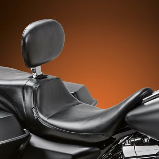 LE PERA DAYTONA TWO UP SMOOTH SEAT WITH BACKREST HARLEY TOURING 08-21