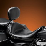 LE PERA MONTEREY SOLO SMOOTH SEAT WITH BACKREST HARLEY TOURING 08-21