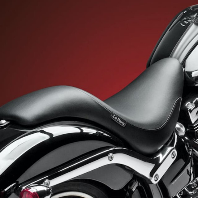 LE PERA SILHOUETTE SMOOTH SEAT HARLEY SOFTAIL FXSB 13-17 - BACK