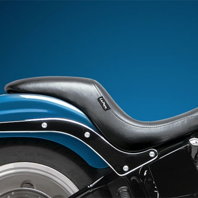 LE PERA SILHOUETTE SMOOTH GEL SEAT HARLEY SOFTAIL 06-17 - LATO