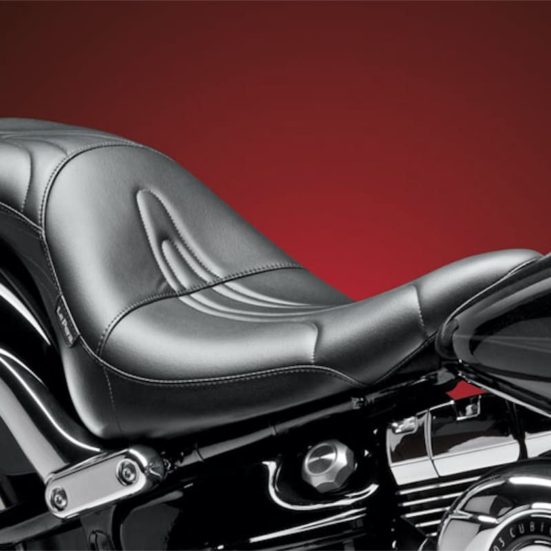 SELLA LE PERA SORRENTO SPECIAL STITCH 2-UP SEAT HARLEY FXSB 13-17