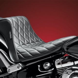 LE PERA CHEROKEE 2 UP CUSTOM DIAMOND SEAT HARLEY SOFTAIL BREAKOUT 13-17