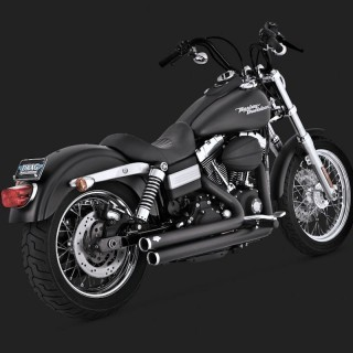 VANCE HINES BIG SHOTS STAGGERED BLACK EXHAUST DYNA 06-11