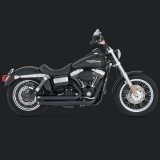 VANCE HINES BIG SHOTS STAGGERED BLACK EXHAUST DYNA 06-11 - SIDE